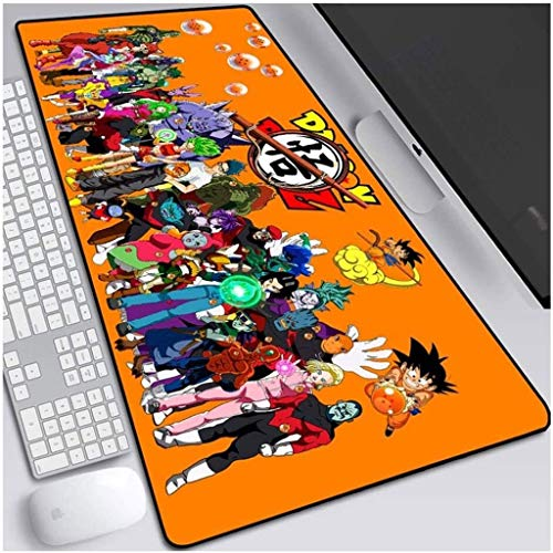 Gaming Mouse Pad Dragon Ball Z Anime XXL Large Mouse Mat Keyboard Mat Extended Mousepad for Computer Desktop PC Laptop Mouse Pad (Color : K, Size : 800x300x3mm)