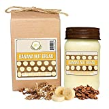Aira Soy Candles - Organic, Kosher, Vegan, in Mason Jar w/ Therapeutic Grade Essential Oil Blends - Hand-Poured 100% Soy Candle Wax - Paraffin Free, Burns 110+ Hours - Banana Nut Bread -16 Ounces