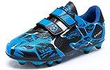 Botas de Fútbo Niño Zapatillas de Fútbol Niña Zapatos de Fútbol Atletismo Zapatos de Entrenamiento Profesionales Césped Artificial Football Shoes Training Unisex Azul 30