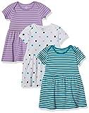 Amazon Essentials - Pack de 3 vestidos para niñas, Girl Dots, Bebé prematuro