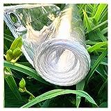 AWSAD Lona Plástico Transparente, 0,3 Mm Paño Lluvia Transparente por Exterior Patio Paño Cobertizo con Agujeros Durable Impermeable Lona del Parabrisas (Color : Clear, Size : 1.6Mx5M)