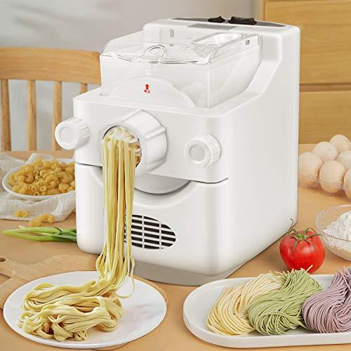 TTLIFE machines à pâtes électriques avec 9 + 3 formes de pâtes 1 lb. Machines à pâtes électriques de grande capacité pour spaghetti fettuccine penne macaroni ou emballages de boulettes en 3 minutes