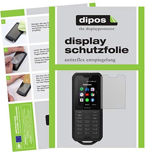 dipos I 2X Schutzfolie matt kompatibel mit Nokia 800 Tough Folie Bildschirmschutzfolie