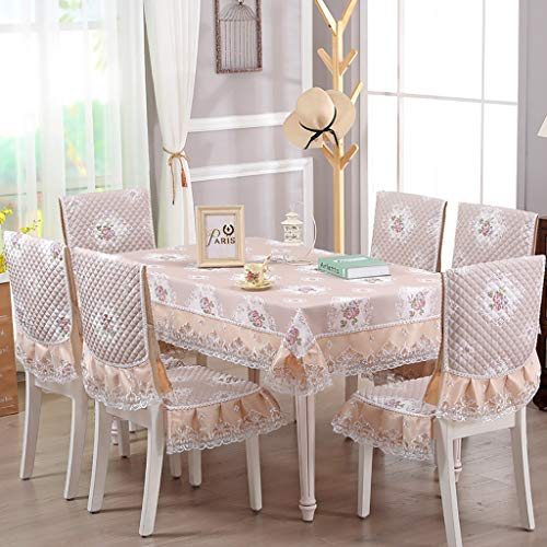 Rectangle/Oblong Dining Tablecloths Household Living Room Table Cloth Chair Cover For Buffet Table,Holiday Dinner Chair Cover Cushion Set,3 Colors Christmas And New Year Decoration
