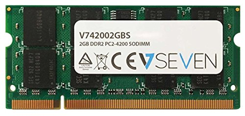 V7 V742002GBS V7 2GB DDR2 PC2-4200 533Mhz SO DIMM Notebook módulo de memoria - V742002GBS