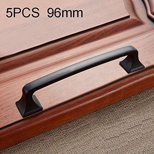 MENGYUE Tirador de la manija 5 PCS 6222A-96 Simple gabinete de los Muebles de la manija de la manija de Bronce Negro Tirador de cajón