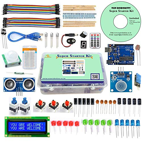 SunRobotics Arduino Uno Based Super Starter Kit with Full Learning Guide Including Codes and Tutorials