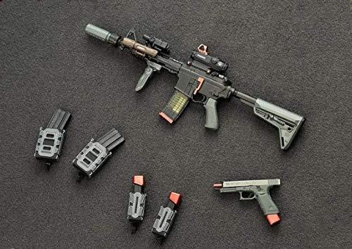 Miniatura Fuzil SLR + Pistola GM575 1/6