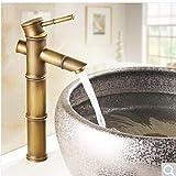 HPPSLT Grifo de baño Cuenca del Grifo Antiguo Grifo del Lavabo Caliente Y Fría Grifo de Lavabo (Color : 3)