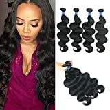 Brazilian Body Wave 4 Bundles 14 16 18 20 Inch 100% Unprocessed Human Hair Bundles Body Wave Natural Color and soft