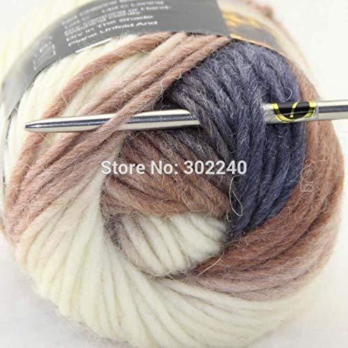 Skeins Chunky Hand Coarse Knitting Scores Wool Yarn Dark Bronze White Cool Grey
