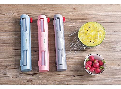 GSJDD Frischhaltefolie und Folienschneider, Aufbewahrungsbox für Folien-Frischhaltefolie, Gute Verschleißfestigkeit, langlebig und leicht zu schneiden (Color : B)