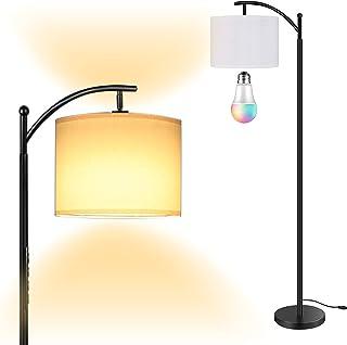 Lampadaire LED RGB sur Pied Salon, AnTing Lampadaire avec 15W LED ampoule, Lampadaire Arc Classique, Lampadaire Réglable, ...