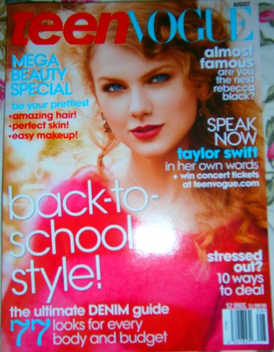 Teen Vogue Magazine (August, 2011) Taylor Swift Cover