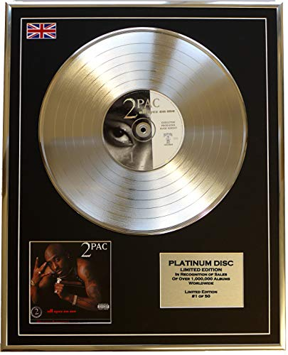 Everythingcollectible 2PAC /Limitierte Edition Platin Schallplatte/All Eyez ON ME