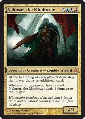 Magic The Gathering - Nekusar, The Mindrazer - Commander 2013
