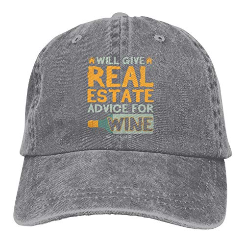 Jopath Gibt Immobilien Ratschläge für Wein verstellbare Baseballkappe für Männer Frauen Hut Reisemütze Racing Motor Hut