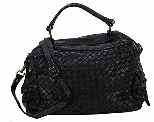 BZNA Bag Marie nero sheep Italy Designer Damen Handtasche Schultertasche Tasche Schafsleder Shopper Neu