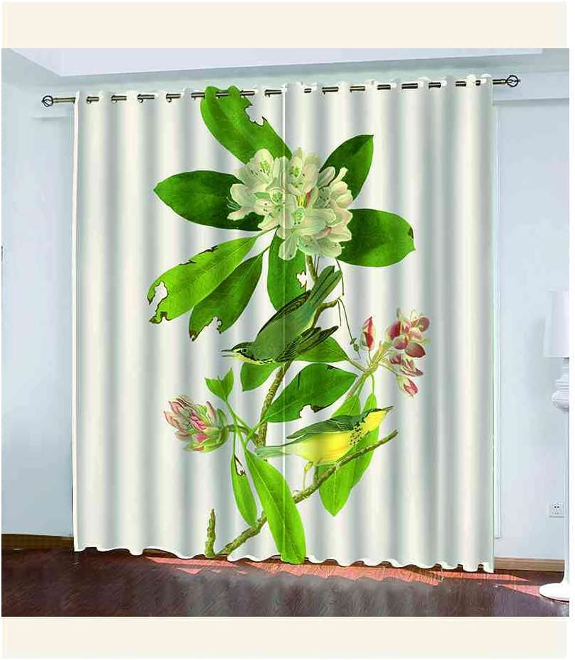 CJKTEZ Blackout Curtains Very popular for Bedroom Grommets Popular product Drapes with Green
