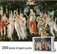 クラシックパズルゲーム SPINGによってサンドロBotticelli- 2000ピースジグソーパズル大人子供ペーパーパズル解凍おもちゃギフトの家の壁の装飾のアレゴリー 頑丈で簡単