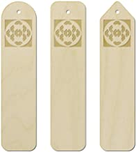 3 x 'Butterfly Pattern' Birch Bookmarks (BK00023612)