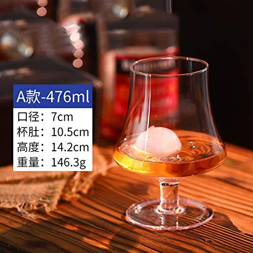 Luxury glass 6 Brandy bekers, buitenlandse wijnbeker, korte poten rode wijnbeker, creatieve whisky, tweedehands bier, wijnbeker, super groot, deel A - inhoud 476 ml