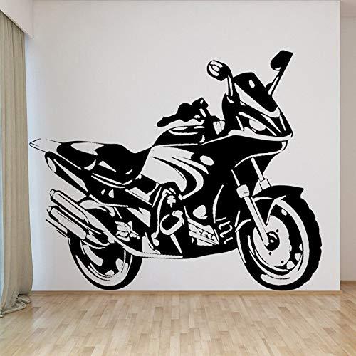ASFGA Coole Motorrad Vinyl Wandaufkleber Film Samurai Kinder Wohnzimmer Schlafzimmer Family Pack Spielzimmer Wandtattoo Adesivos 58cm x 69cm