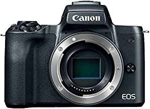 Canon EOS M50 Mirrorless Digital 4K Vlogging Camera with Dual Pixel CMOS Autofocus, DIGIC 8 Image Processor, Built-in Wi-Fi, NFC and Bluetooth technology, Body, Black