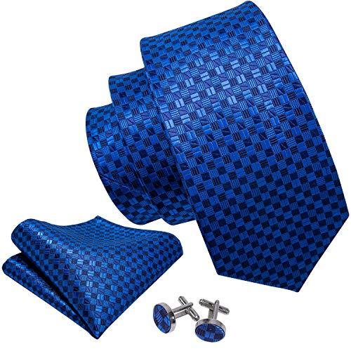 Hi-Tie - Juego de corbata de cachemir de seda para hombre