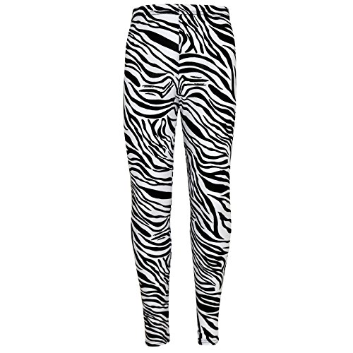 A2Z 4 Kids® Mädchen Legging Kinder Zebra Aufdruck - Zebra Legging 7-8