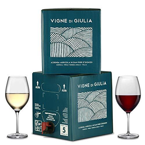 Bag in Box vino Chardonnay 5L + Bag in Box vino Cabernet 5L - Vigne di Giulia
