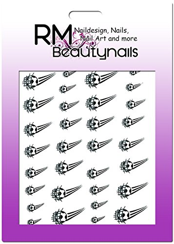 Fussball Sticker WM EM Ball Tor Football Nageldesign Nailart RM Beautynails Nailwrap