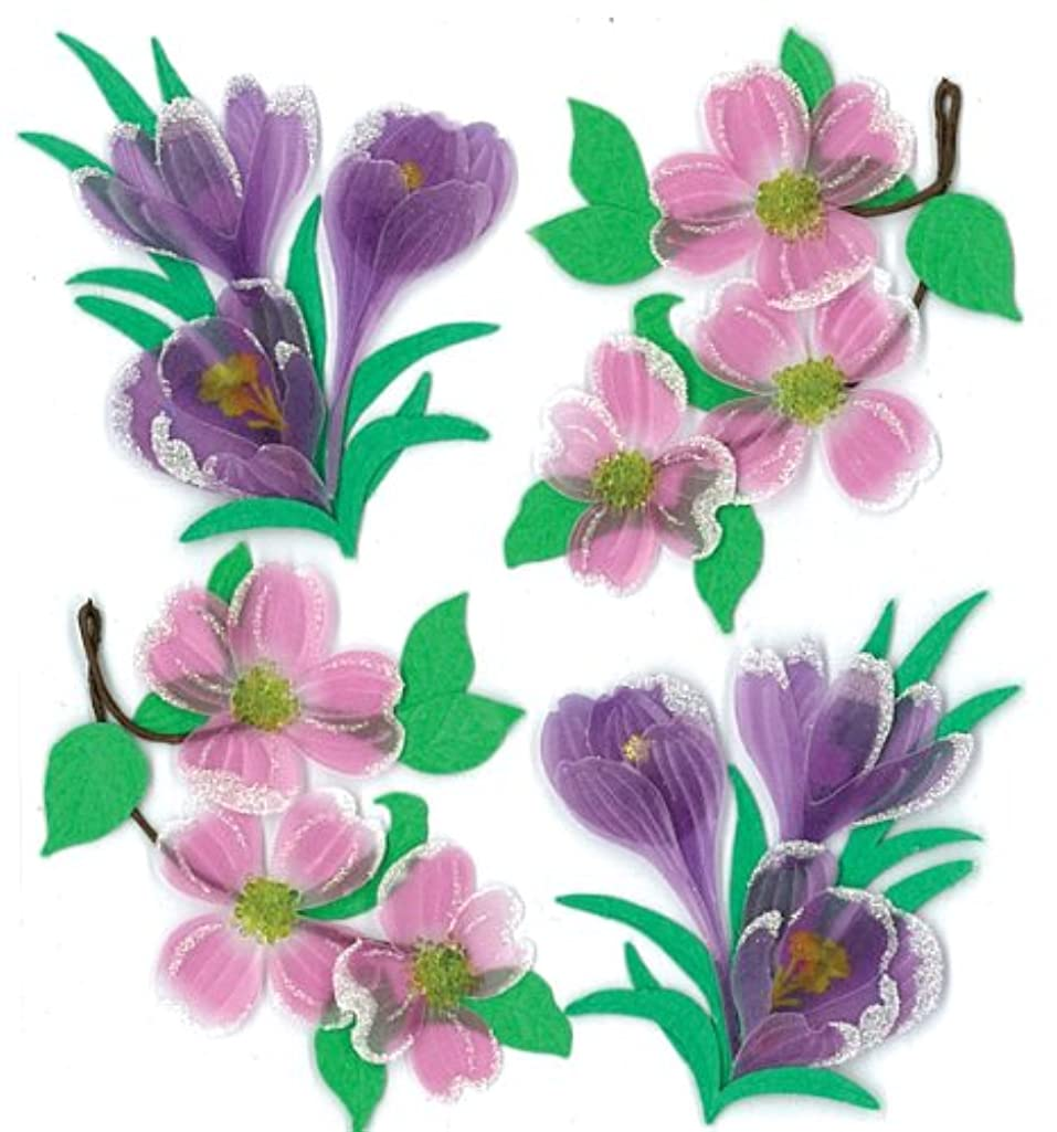 Jolee's Boutique Dimensional Stickers, Dogwood and Crocus Flowers