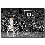 FILWS Basketball Poster Stephen Curry Basketball Star Kunst