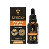 Bee&You Propolis Extrakt Tinktur 20% (Standardisiert auf 20% - Fairer handel - Keine Zusatzstoffe)