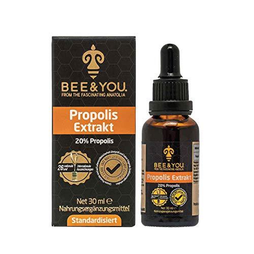 Bee&You Propolis Extrakt Tinktur 20% (Standardisiert auf 20% - Fairer handel - Keine Zusatzstoffe)…