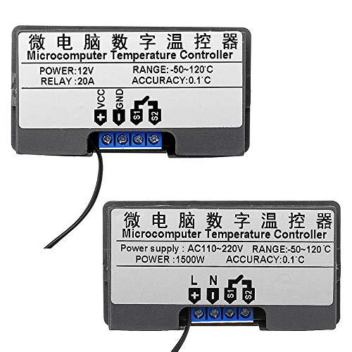 Módulo de relé, Interruptor de Control de la Temperatura del LED Controlador Digital de termostato la Temperatura del termómetro Sensor Meter W3230 DC 12V / AC110V-220V 20A (Voltage : 110V~220V)