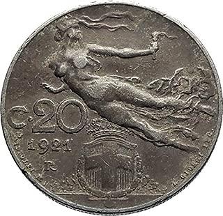 1921 IT 1921 ITALY King Victor Emmanuel III Artistic Anti coin Good Uncertified