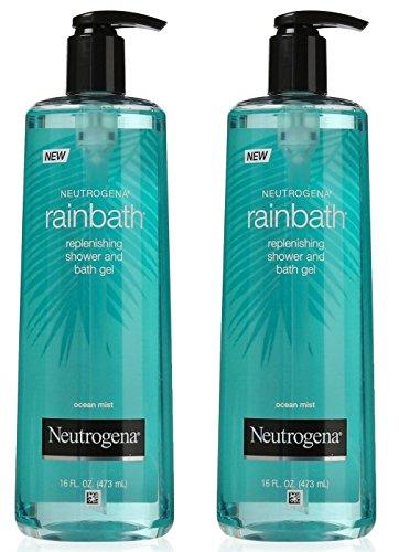 Neutrogena Rainbath Replenishing Shower and Bath Gel, Ocean Mist, 16 Ounce (Pack of 2)