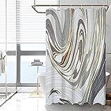 AVNICUD Duschvorhang, Badvorhang in Altgold, waschbar, Wasser- & schimmelresistent, antibakteriell, 120 x 180 cm, 180 x 200 cm (120 x 180 cm)