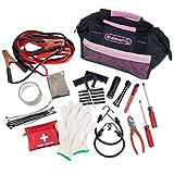 Stalwart 55 Pc Emergency Roadside Kit with Travel Bag - Pink