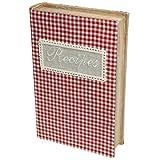 Caja de almacenaje Gingham libro de recetas