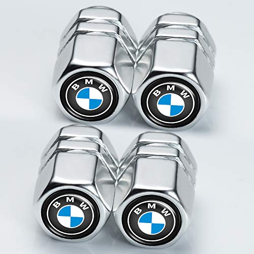 mmmm 4 Pcs Tire Valve Stem Caps Suit for BMW 4 Pcs Metal Car Wheel Tire Valve Stem Caps for BMW X1 X3 M3 M5 X1 X5 X6 Z4 3 5 7Series Logo Styling Decoration Accessories