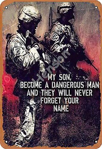 Brandless My Son Become A Dangerous Man VintageTinSignArtIronPaintingRustyPosterDecorationAluminumplaqueForHotelCafeSchoolOfficeGarage