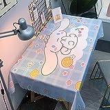 marca blanca Mantel lavable de PVC de plástico para limpiar con un paño de mesa, impermeable, rectangular, protector de mesa para cocina, picnic, al aire libre, interior, 270 x 270