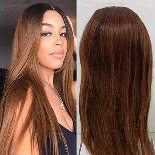 Volvetwig Echthaar Perücke Braun Ombre Hair Farbe #1B 30 Lace Front Wig Blonde Human Hair Wig 13x4 Free Part mit BabyHaar Shoulder Long 16 zoll