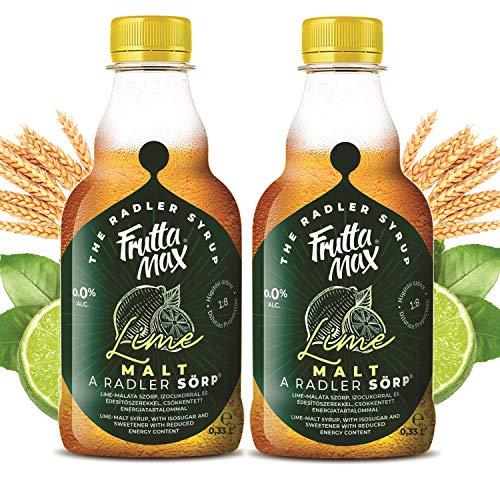 FruttaMax Radler SÖRP Bier Sirup | Fruchtsirup mit Limettenbier-geschmack, | mit Isoglucose und Süßstoff | mit reduziertem Kaloriengehalt 2erPack(2x330ml)