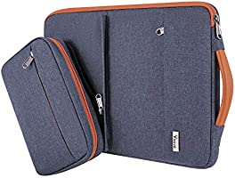 Voova 13-15.6 Inch Laptop Sleeve Bag Case,Special Design Waterproof Computer Carry Bag with Detachable Accessory Pouch…