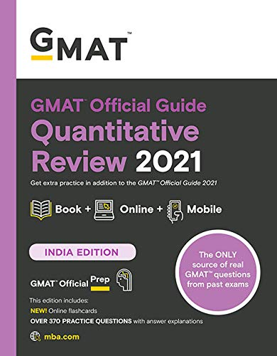 GMAT Official Guide Quantitative Review 2021: Book + Online Question Bank