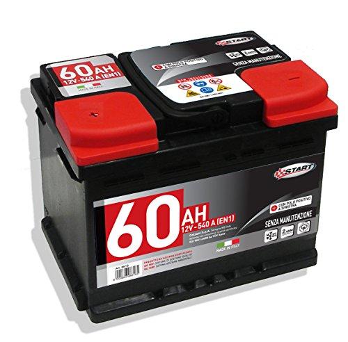 Batteria Auto 60AH 12V 540A polo positivo sinistro Cassetta L2